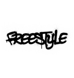 Graffiti freestyle word sprayed in black over vector
