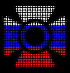 halftone russian searchlight icon vector image
