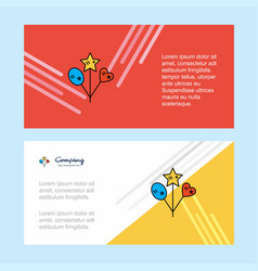 heart and star balloons abstract corporate vector image