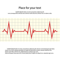 heart rate cardiogram with space for your text vector image