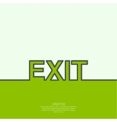Inscription exit vector image