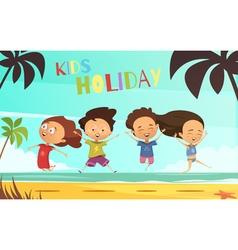 Kids Holiday Flat vector image