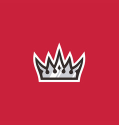 king crown sport logo icon vector image