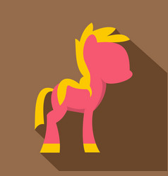Little pony icon flat style vector