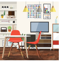 Living room decoration vector