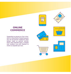 Online commerce banner with place for text vector