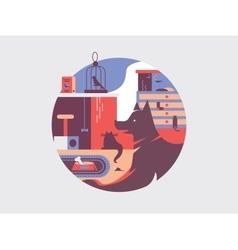 Pets flat vector image