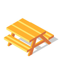 Picnic table isometric vector