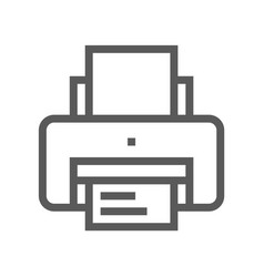 printer electronic devices line icon vector image
