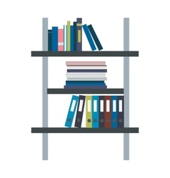Rack with Binders in Flat Design vector image