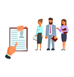 recruitment process flat style design icon vector image