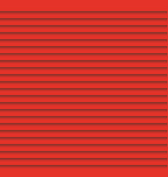 Red louvers background window blinds template vector image