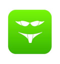 retro bikini icon green vector image