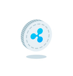 ripple coin vector image