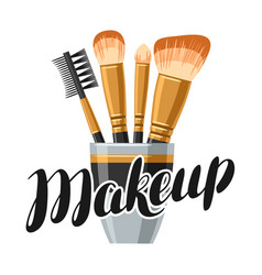 Set of brushes for make up of object vector
