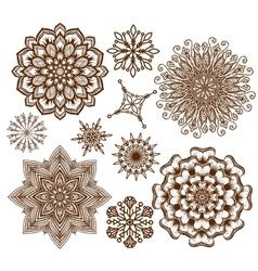 Set ornament mandala Ethnic decorative elements vector