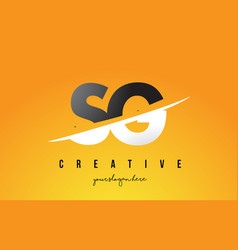 Sg s g letter modern logo design with yellow vector