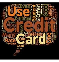 Should Your Student Get A Student Credit Card text vector image