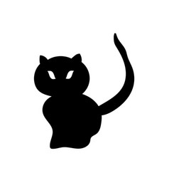 silhouette of a black cat vector image