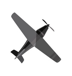 Small airplane isolated vector