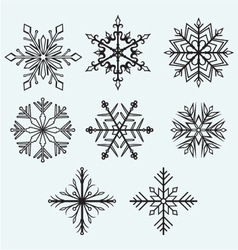 Snowflake winter vector image
