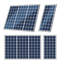 Solar panels of sun energy eco power battery vector