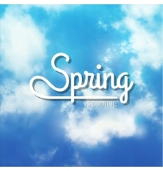Spring Typographic Design Lettering Spring design vector image