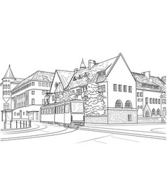 street in helsinki vector image