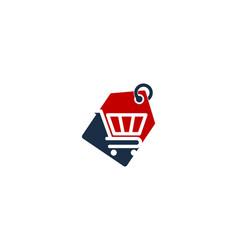 Tag shopping logo icon design vector