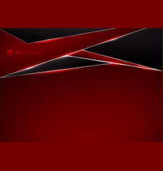template metallic red and black frame layout vector image