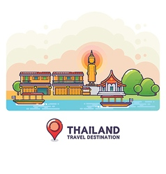 Thailand Travel Destination Concept vector image