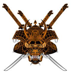 Tiger samurai sh s vector
