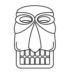 Tiki idol hawaii icon outline style vector
