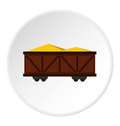 Train cargo wagon icon circle vector