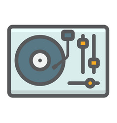 Turntable filled outline icon music vector