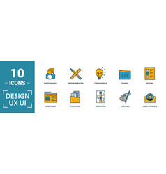 Ui icon set include creative elements search done vector