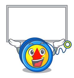 Up board yoyo character cartoon style vector