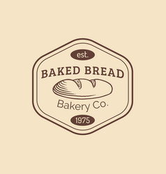 vintage baked bread logo retro hipster vector image
