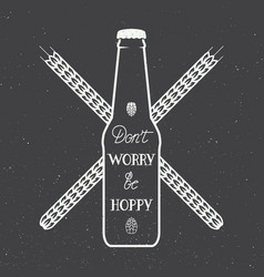 Vintage beer logo with hand lettering fun vector