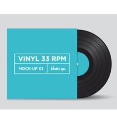 Vinyl 33 rpm mockup 01 vector