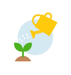 watering can watering plant icon flat design vector image