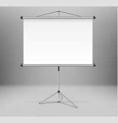 whiteboard projector presentation screen isolated vector image