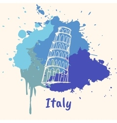 Italian Emotive Motive with Historical Attractions vector image vector image