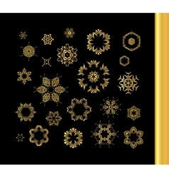 Mandala gold round ornament pattern vector image