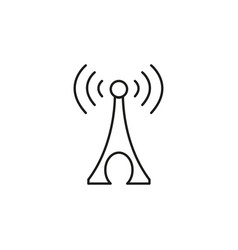 network station icon vector image