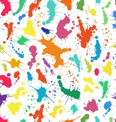 Seamless pattern with ink splashes vector image vector image