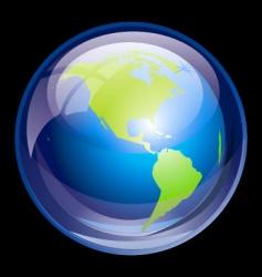 ultra glossy globe vector image vector image