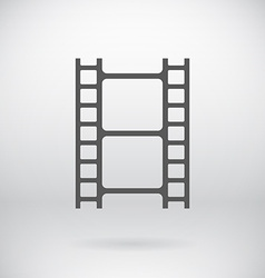 Flat Movie Film Strip Light Icon Symbol Background vector image vector image