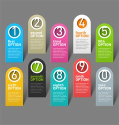 Numbers options infographic elements vector image vector image