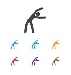 of fitness symbol on practice vector image vector image